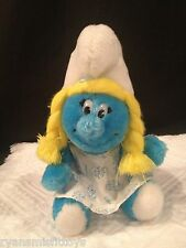"HTF 11"" Vintage 1981 plush Peyo SMURFETTE Smurfs - NEAR PERFECT~ DISPLAYED ONLY"