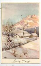 GRANTALIANO Paesaggio Alpino con Neve Vintage PC Circa 1930 Italy 4