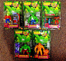 1997 TOY BIZ THE INCREDIBLE HULK SMASH AND CRASH COMPLETE MOC 5 FIGURE SET D11