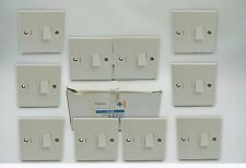10 x Get Classic 13A Switched Connection Unit White Moulded CLSS (A511)