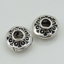 8 Pcs S925 Sterling Silver 6X3mm Vintage Tibetan Rondelle Charm Spacer WSP087X8