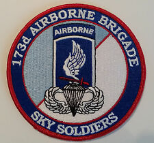 US ARMY 173RD AIRBORNE BRIGADE 4 INCH ROUND PATCH - MADE IN THE USA!