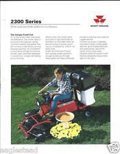 Farm Tractor Brochure - Massey Ferguson - MF 2300 Front Cut Mower (F3639)