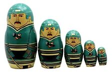 San Jose Sharks Russian Nesting Dolls Set of 5 with Free NHL Carrying Case