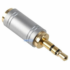 3.5mm Stereo Jack Plug to Mini 2.5mm Female Socket Gold Headphone Audio Adapter