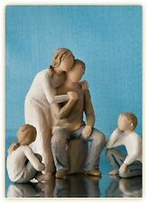 Willow Tree Mother & Father with Son & Daughter Figurine Set     23090