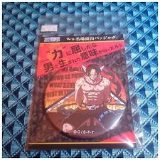 Animate Limited One Piece Famous Scene Can Badge Portgas D. Ace About 7.5cm