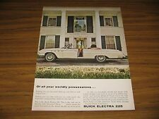 1961 Print Ad The 1962 Buick Electra 225 Convertible
