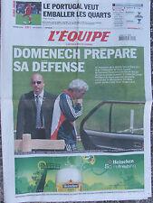 L'Equipe du 19/6/2008 - Euro : Domenech - Le Portugal -