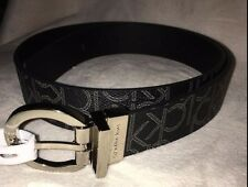 "Calvin Klein jeans reversible belt BLACK LOGO SZ M 40"" NEW"