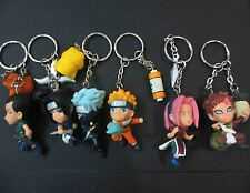 "lot of 6 naruto keychain keyring key chain anime figure figures 2"" #ds6"