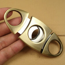 Heavy Stainless Steel Double Blades Copper Cigar Cutter FX31