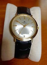 Beautiful Vintage Mens Solid 14k gold Hamilton dress watch 1960s