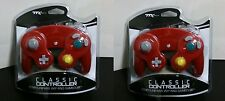 2 Mario Red Game Controller Pad for Nintendo Gamecube GC Wii NEW USA