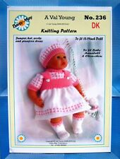 "DOLLS KNITTING PATTERN for Annabell  No 236 by Daisy-May 17""-19"" doll Val Young"