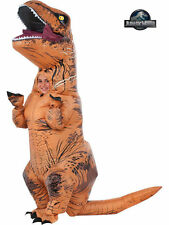 Inflatable T-REX Costume Jurassic World Park Blowup Dinosaur Child Boys 8/10 M
