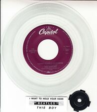 """BEATLES I Want To Hold Your Hand & This Boy CLEAR VINYL 7"""" 45 rpm record NEW"""