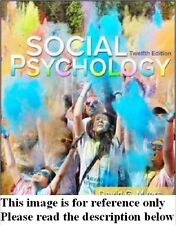 Social Psychology 12th by Myers NEW Int'l Ed. US Delivery 3-4 bus days/Insurance