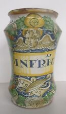 VERY RARE DATED 1562 ITALIAN MAJOLICA ALBARELLO DERUTA ESTATE PHARMACY JAR