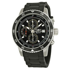 Invicta Signature II Chronograph Black Dial Black Rubber Mens Watch 7394