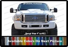 """PowerStroke Turbo Diesel Front Windshield Banner Decal Fits Ford Trucks 4"""" x 45"""""""