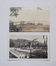 2 Navy Postcards Treasure Island Navy Training Center Real Photo Postcards RPPC