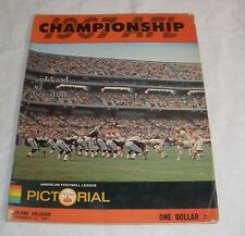 Oakland Raiders vs Houston 1967 Championship Program