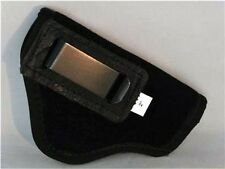 """SUEDE LEATHER INSIDE PANTS GUN HOLSTER FITS 2"""" SNUB NOSE REVOLVERS S&W etc Black"""