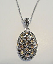 NEW  Fine Silver Plated Genuine Authentic Marcasite Necklace JCP