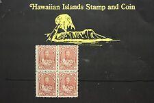 137 HAWAII #44 UNUSED ISSUED 1884 BLOCK OF FOUR