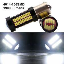2Pcs White 1156 BA15S SMD 4014 106 LED Bulb Auto Brake Parking Lamp 9~28V 1900LM