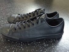 Genuine Converse All Star Chuck Taylor Black Leather Trainers Size 8