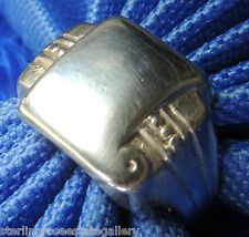 Engraveable Men's Vintage STERLING SILVER 0.925 Band Ring Size 10 or T 1/2