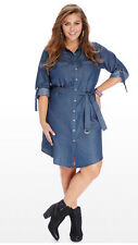 01 new Women denim Long Sleeve Casual Evening Cocktail Party dress Plus Size 20W