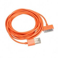 Long 3m USB Cable for iPhone 4S 4 Data Sync Charger Wire Orange Lead