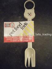 NEW CAT DOGS PLASTIC FOOD PET FEEDING FEEDER  FORK