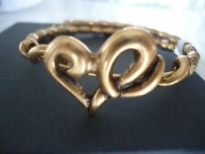 Alex and Ani HEART WRAP Russian Gold Charm Bangle New W/ Tag Card & Box