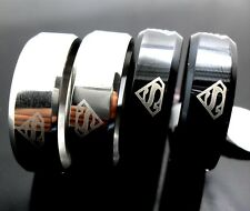 50pcs Superman Rings Stainless Steel Band Rings Wholesale Party Birthday Gift