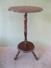 """Vintage Table, Candle Plant Stand, Pine Wood, 22"""" Tall, Tripod Feet"""