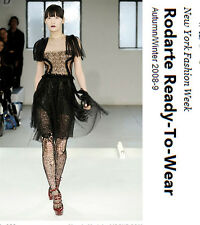 Rodarte Black Tulle And Lace Dress Fall 2008 As  Seen On Natalie Portman NEW
