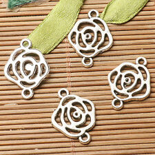 20pcs dark silver color rose flower design connector for jewerly making  EF2805