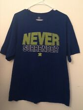 XL Mens adidas never surrender royal blue neon yellow t-shirt. Graphic tee