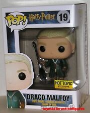 FUNKO POP 2016 HARRY POTTER QUIDDITCH DRAGO MALFOY #19 HOT TOPIC Figure IN STOCK