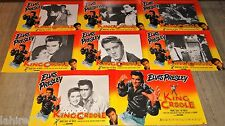 elvis presley KING CREOLE ! rare jeu 8 photos cinema prestige grand format