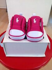 Polo ralph lauren fille rose baskets taille 1.5 brit neuf