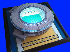 MARACANA STADIUM - RIO - BRAZIL  HANDMADE MODEL STADIUM WITH WORKING FLOODLIGHTS