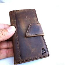 genuine natural leather case for iphone 4s 4 cover book wallet stand handmade AU