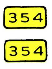 354 SILVER BULLET ADHESIVE STICKER for American Flyer S Gauge Scale Trains
