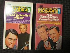 1966 MAN FROM UNCLE Paperback LOT of 2 Ace #5 Mad Scientist #7 Radioactive Camel