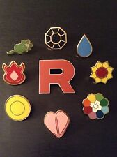 Pokemon: Kanto Gym Badges Set of 8 TEAM ROCKET ***30 DAY WARRANTY*** USA